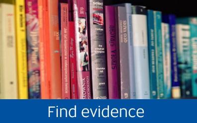 Navigate to Find evidence