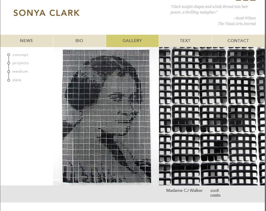 Sonya Clark's website image