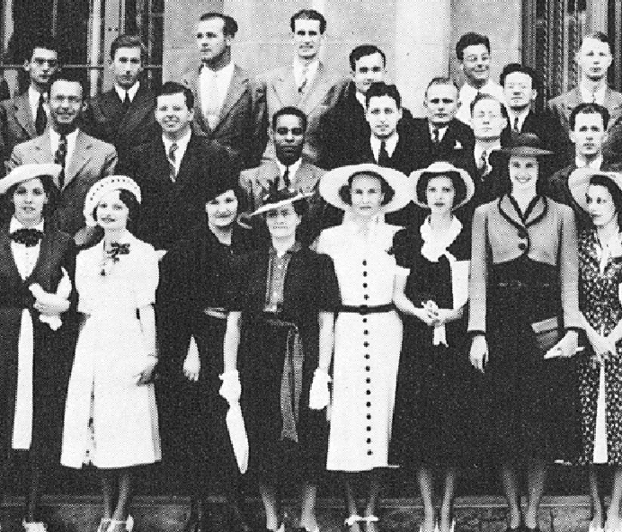 Class of 1938 featuring Crispus Wright at center.