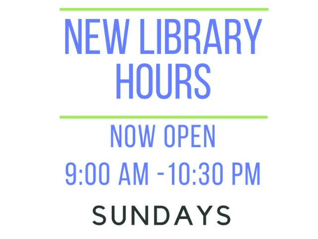 New Sunday Hours