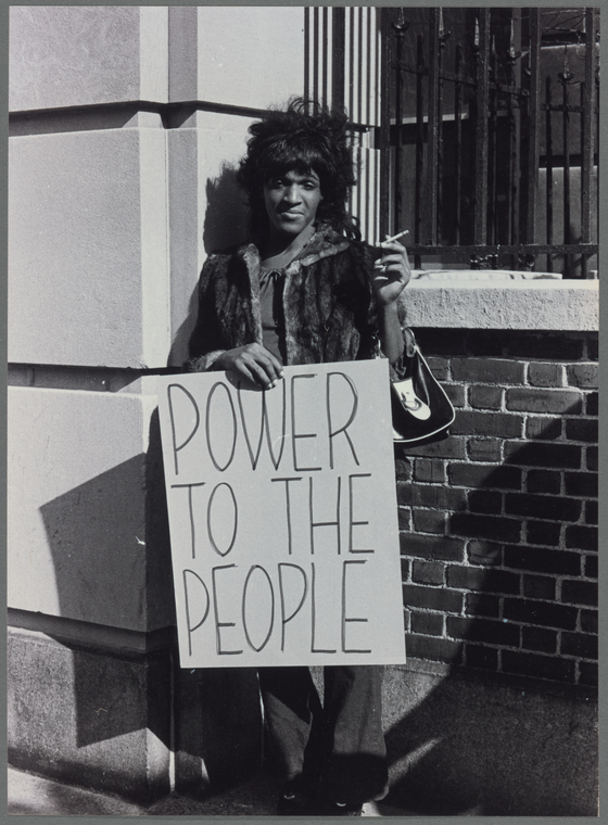 Marsha P. Johnson pickets Bellevue Hospital to protest treatment of street people and gays