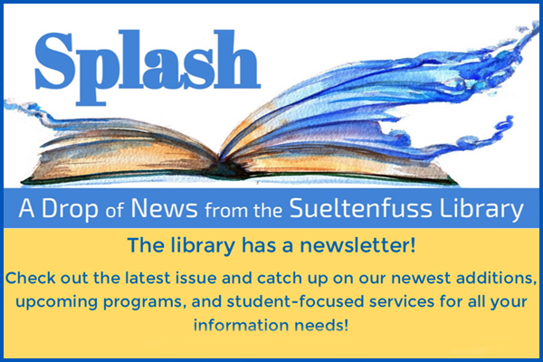 Splash Library Newsletter