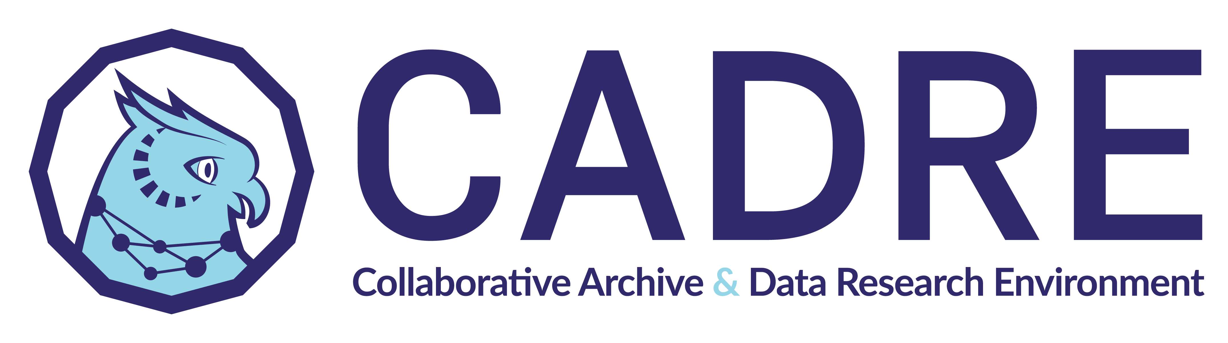 "Illustration. The CADRE logo. It shows an owl with the words ""Collaborative Archive & Data Research Environment."""