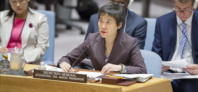 Fang Liu, Secretary-General of the International Civil Aviation Organization (ICAO), addresses the Security Council in 2016; UN Photo 694816