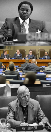 Top: UN Photo #279367: Chairman of Fourth Committee; Middle: UN Photo #611086: Assembly's Fourth Committee Begins Consideration of UNRWA's Work; Bottom: UN Photo #263749: Fourth Committee Hears Petitioner on Question of Namibia Continues Debate on Decolonization
