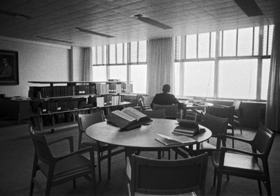 UN Photo 49865: View of the Abraham H. Feller Reading Room