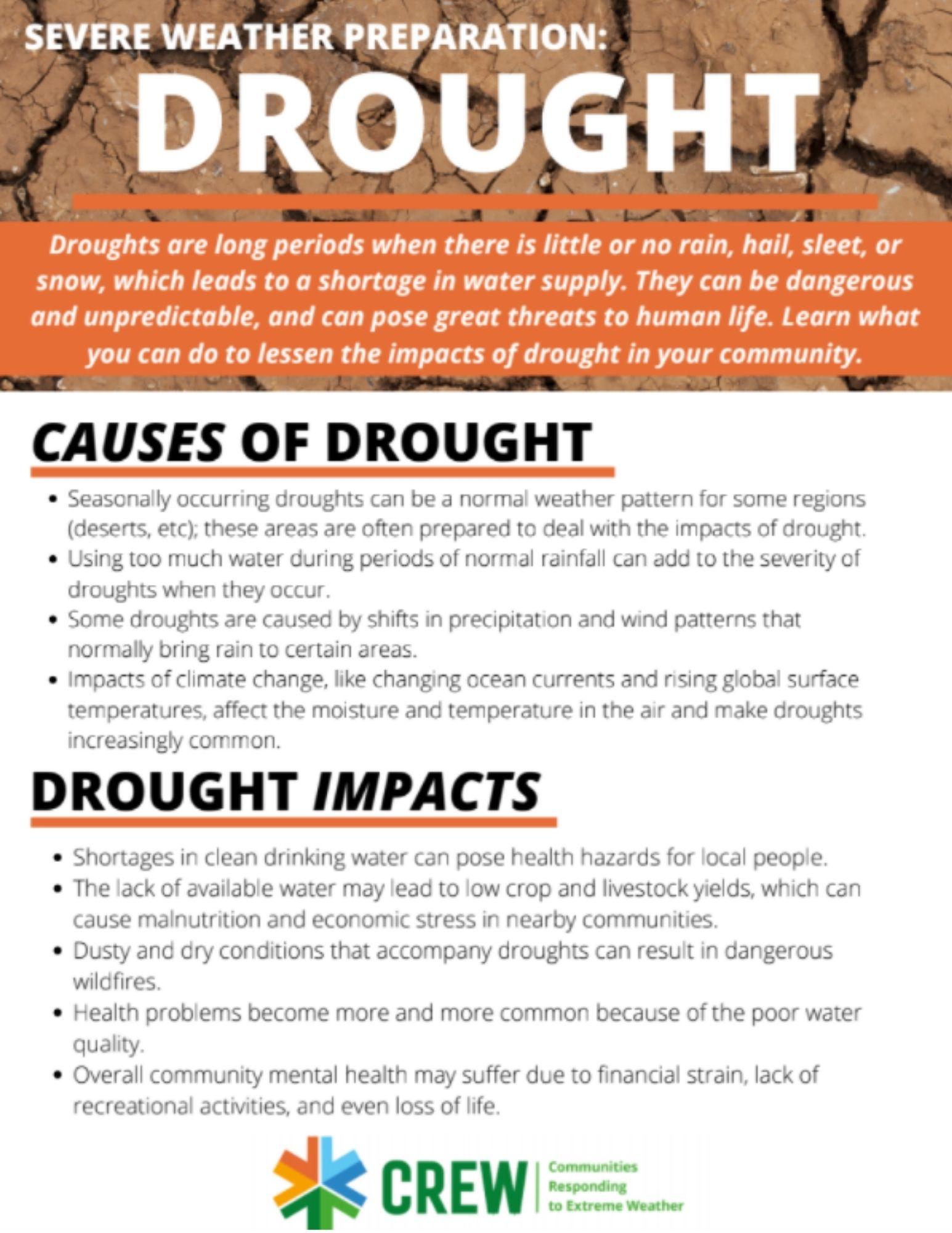 Drought preparation brochure