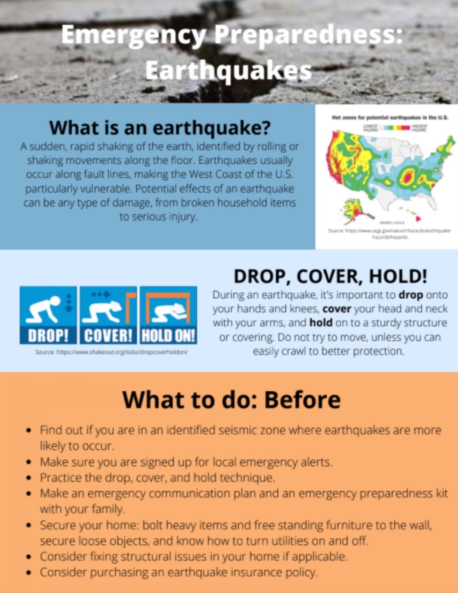 Earthquake Preparation brochure