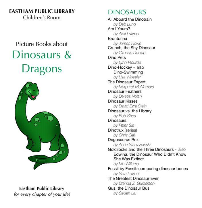 Dinosaur Picture Book Guide
