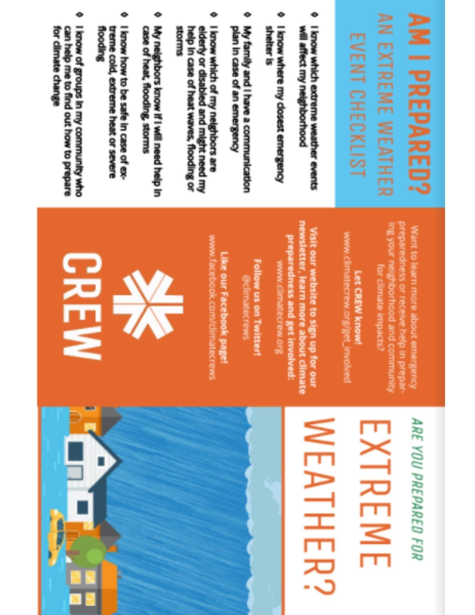 Extreme Weather Preparation brochure