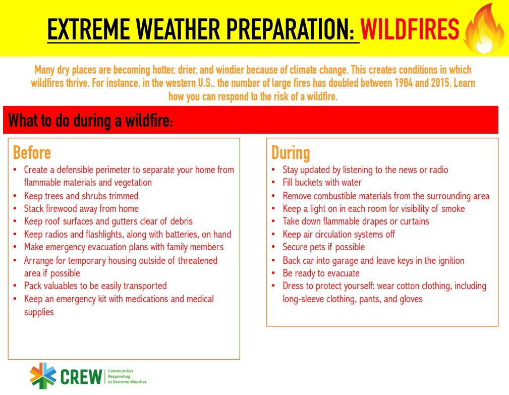 wildfire preparation brochure