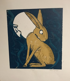 drawing of rabbit