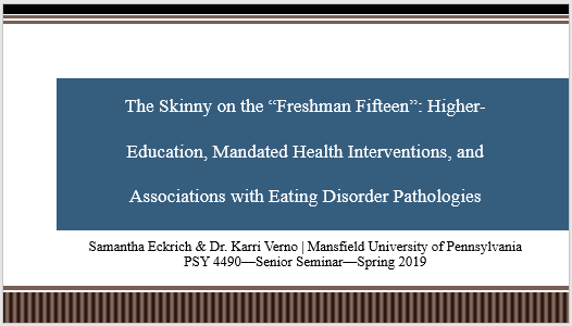 Health Interventions and Eating Disorders Presentation