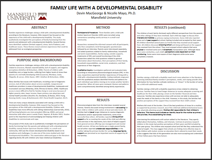 Family with disabilities poster