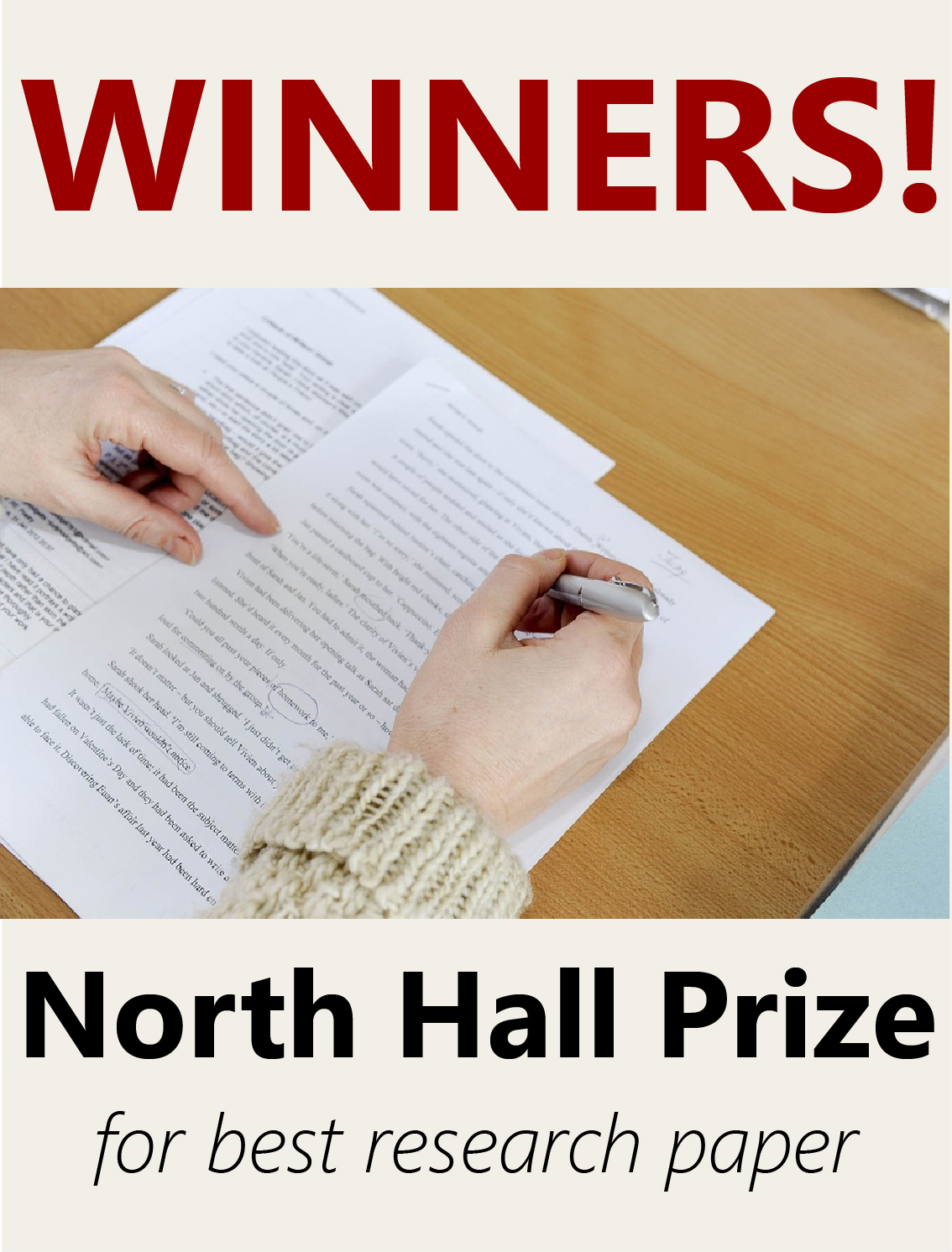 North Hall Prize Winners