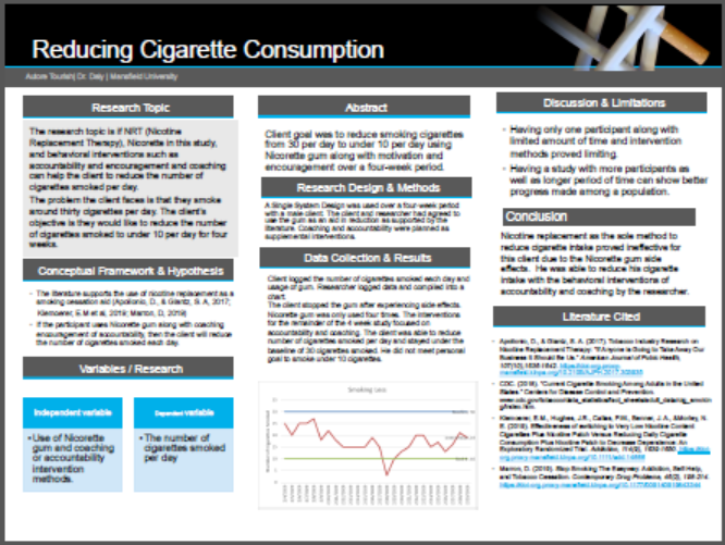 Reducing Cigarett Consumption Poster
