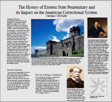 Penitentiary history poster