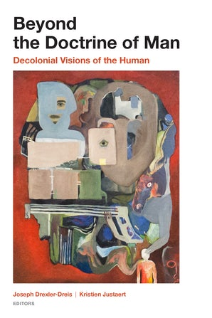 Book cover depicting images of colonialism in an abstract art piece.