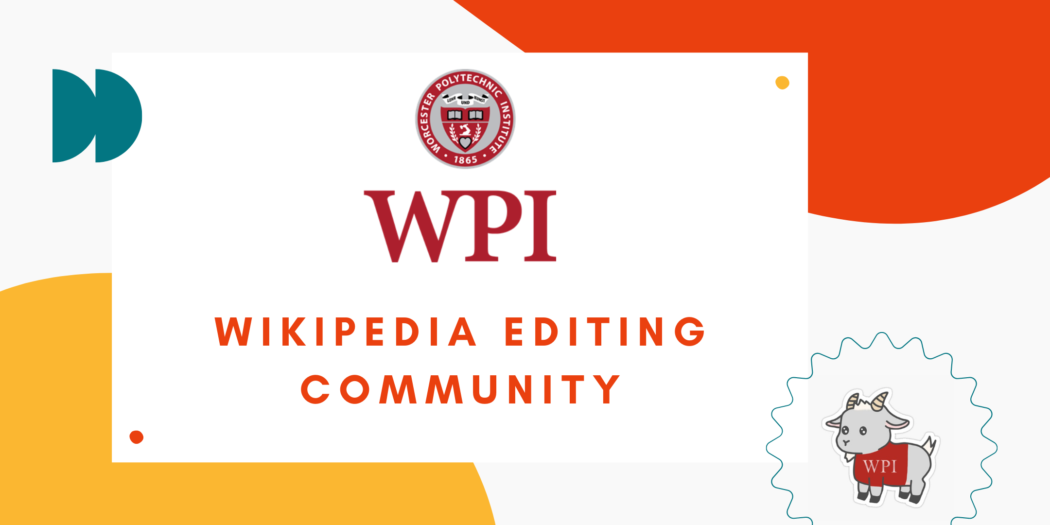 WPI Wikipedia Editing Community banner