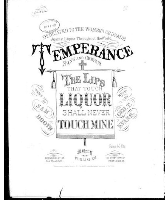 Cover for a list of women's prohibition songs.