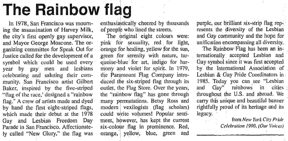 The Rainbow Flag Article Image