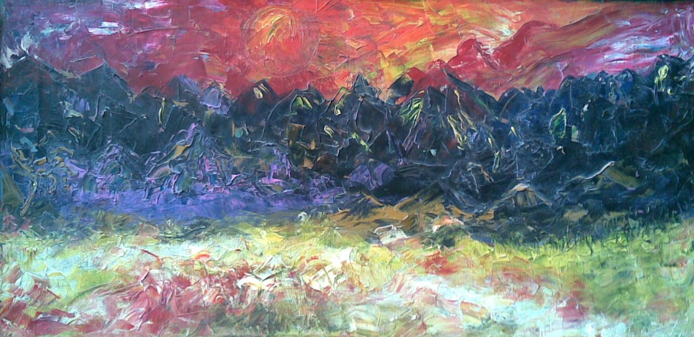 Desert in the evening by Julia Dolgorukova