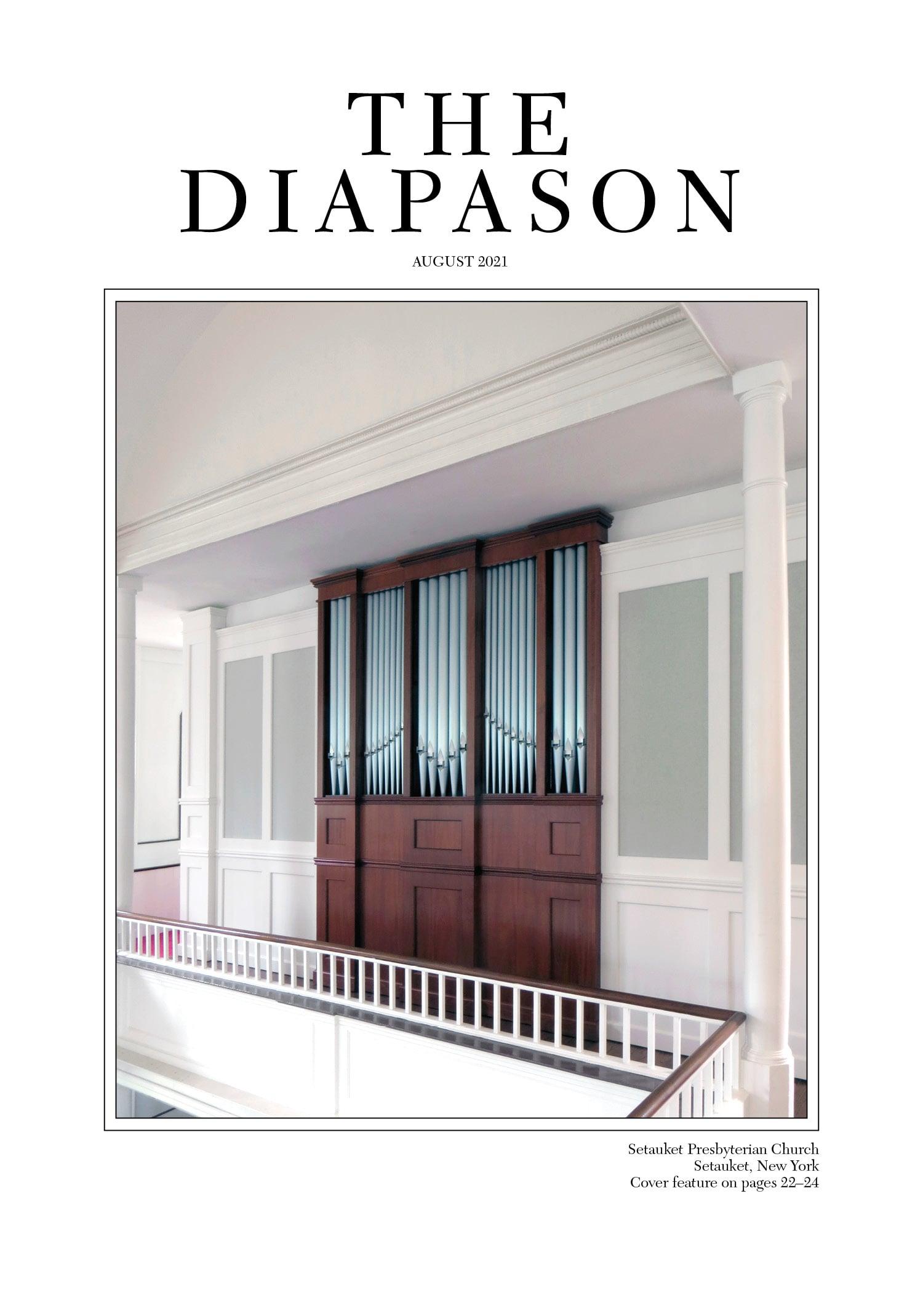 The Diapason August 2021 Cover art