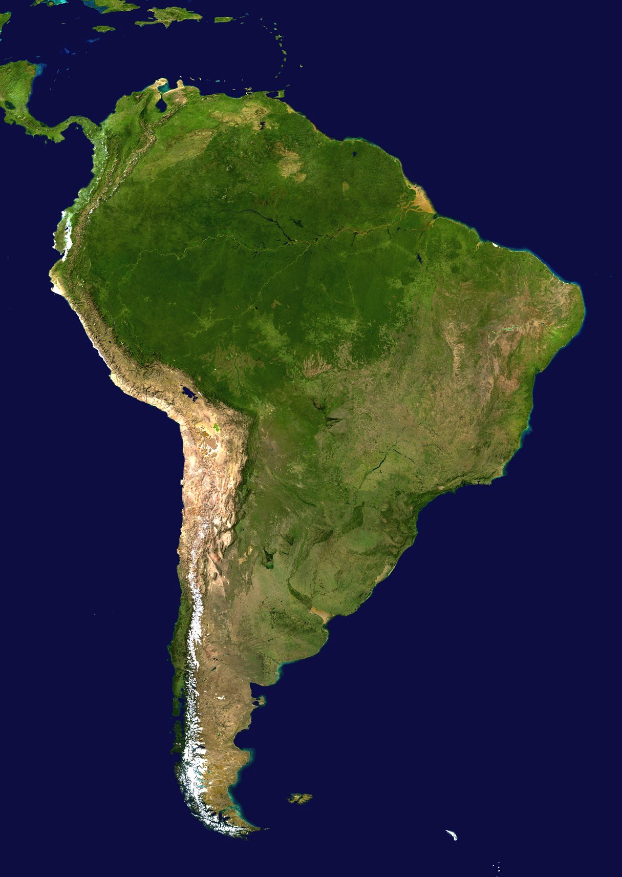 Latin America Satellite Photo