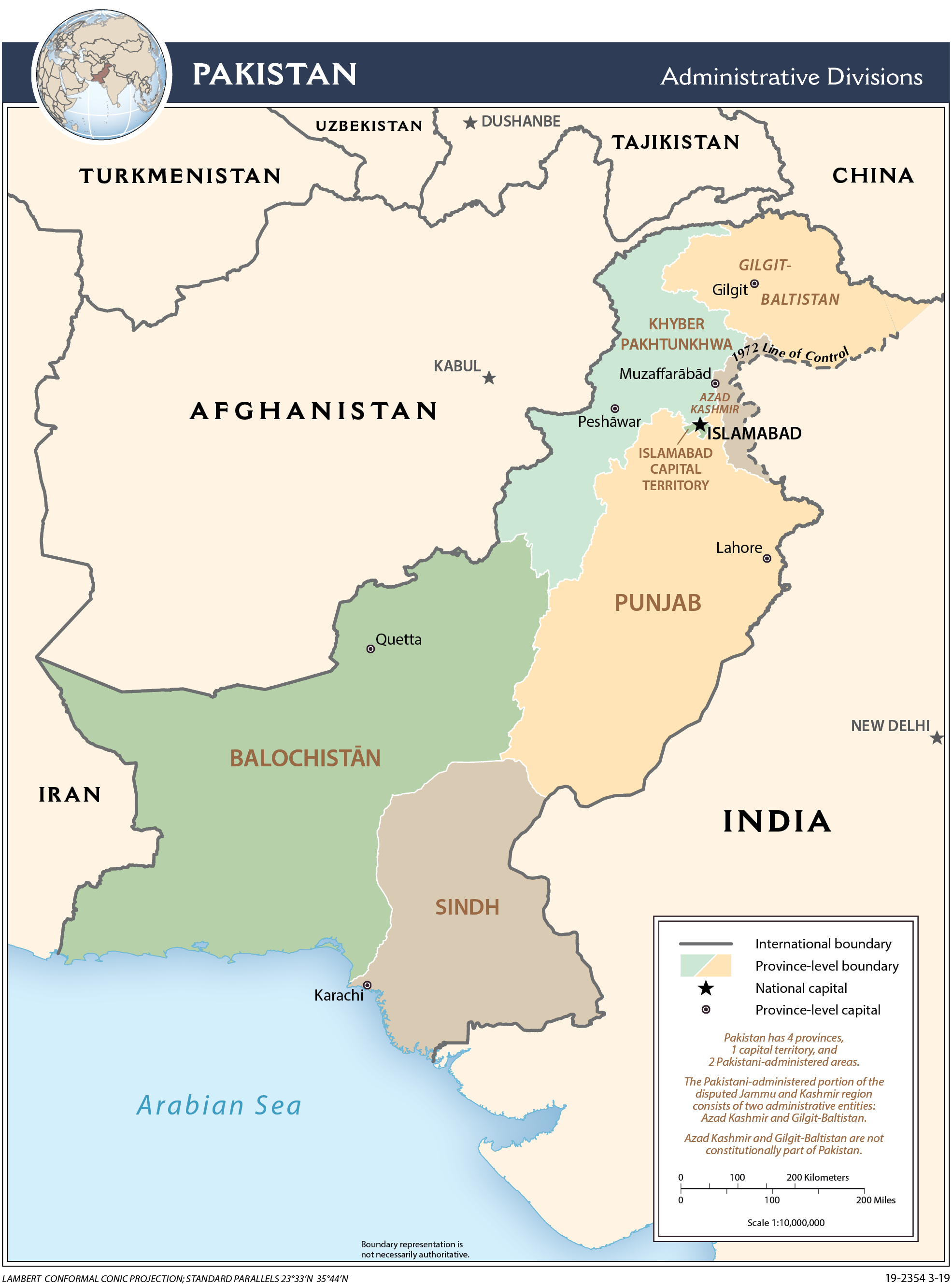 Image: Administrative Map of Pakistan
