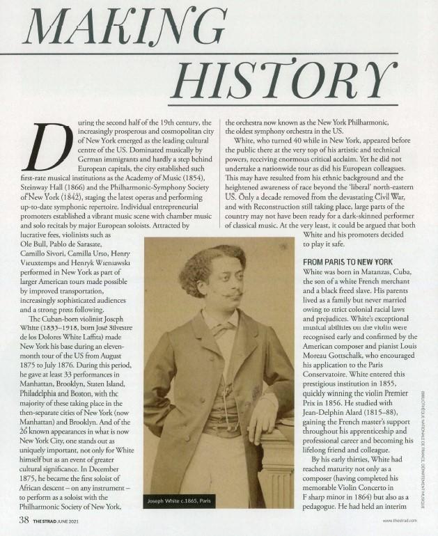 "Decorative image ""Making History"", article on Joseph White"