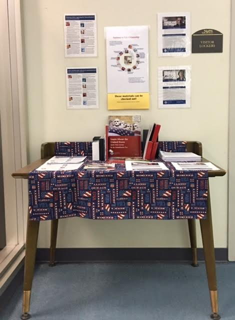 New Jersey Statre Library Citizenship Corner,  Law Library, Level 3