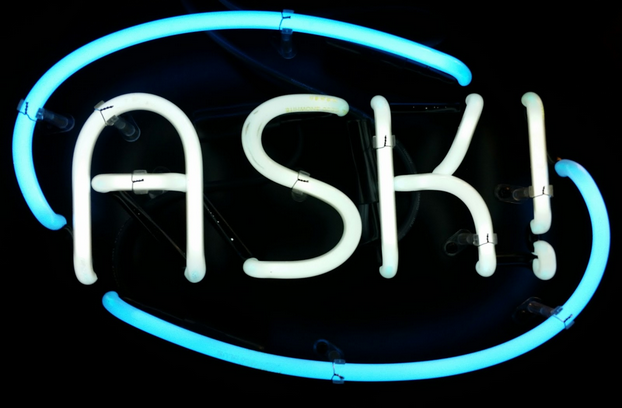 Ask Desk neon sign