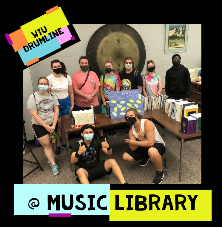 WIU Drumline at Music Library