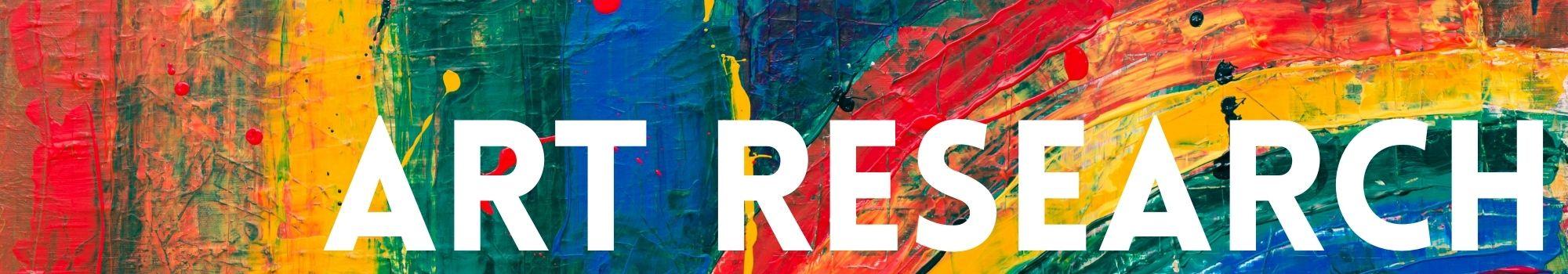 Art research header