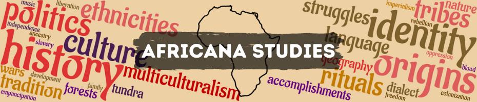 Word cloud of Africana Studies terms