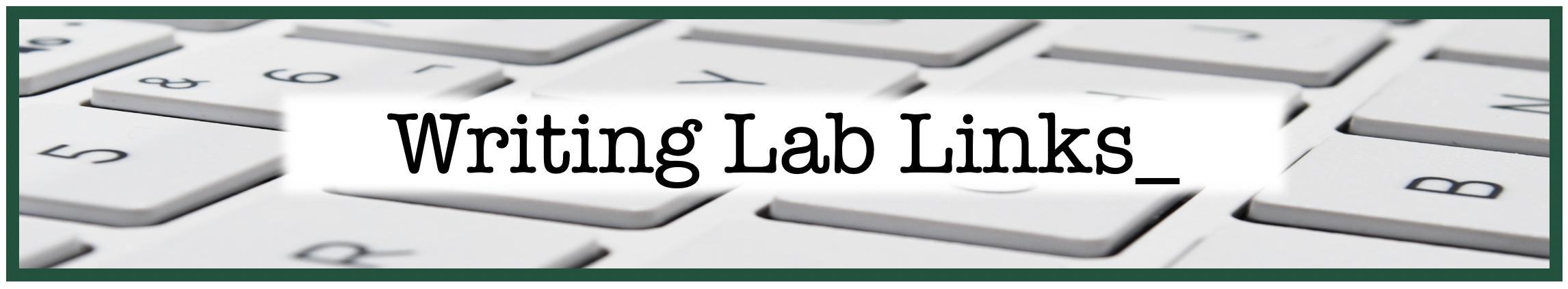 Writing Lab Links