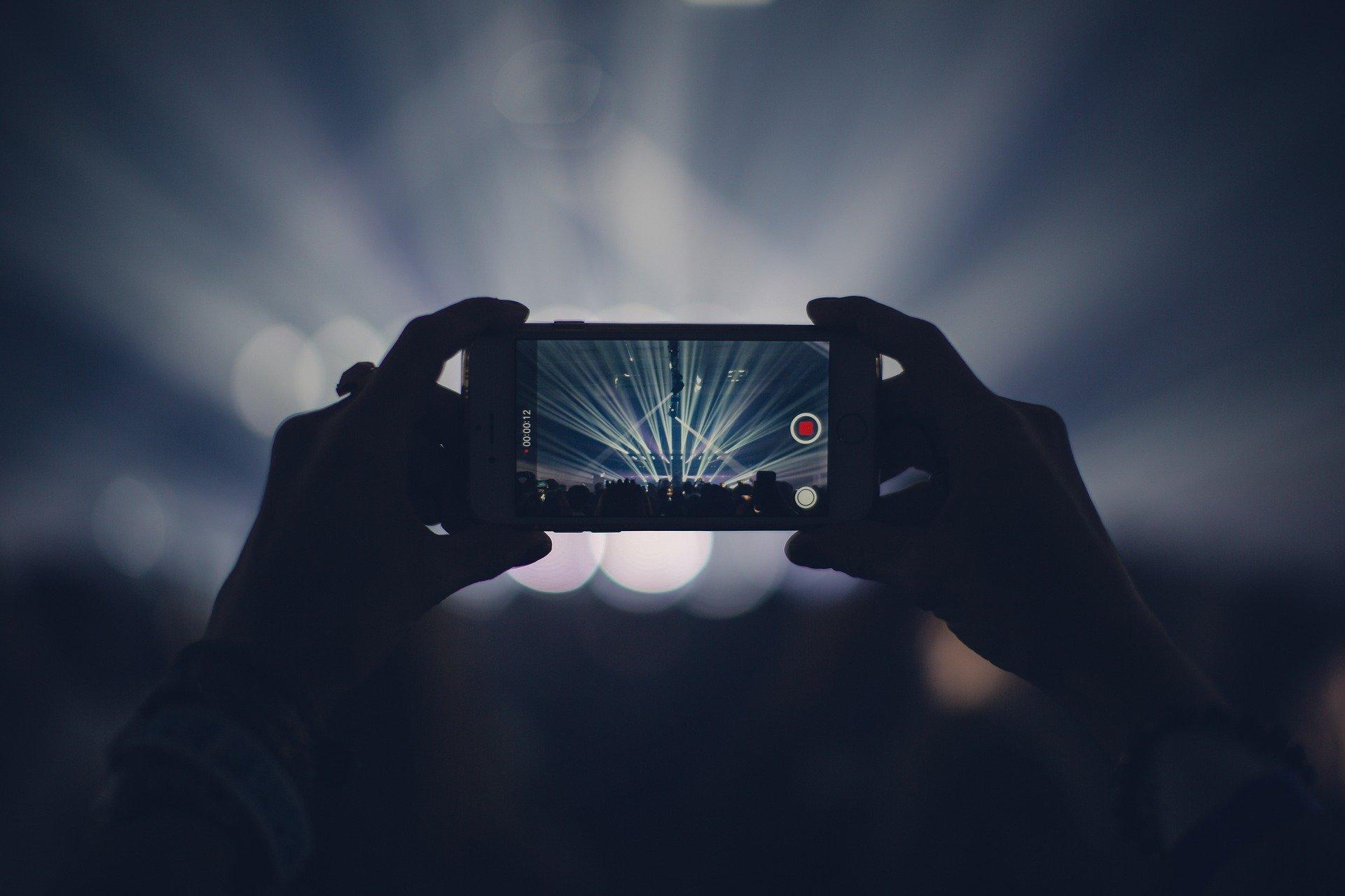 iPhone recording video