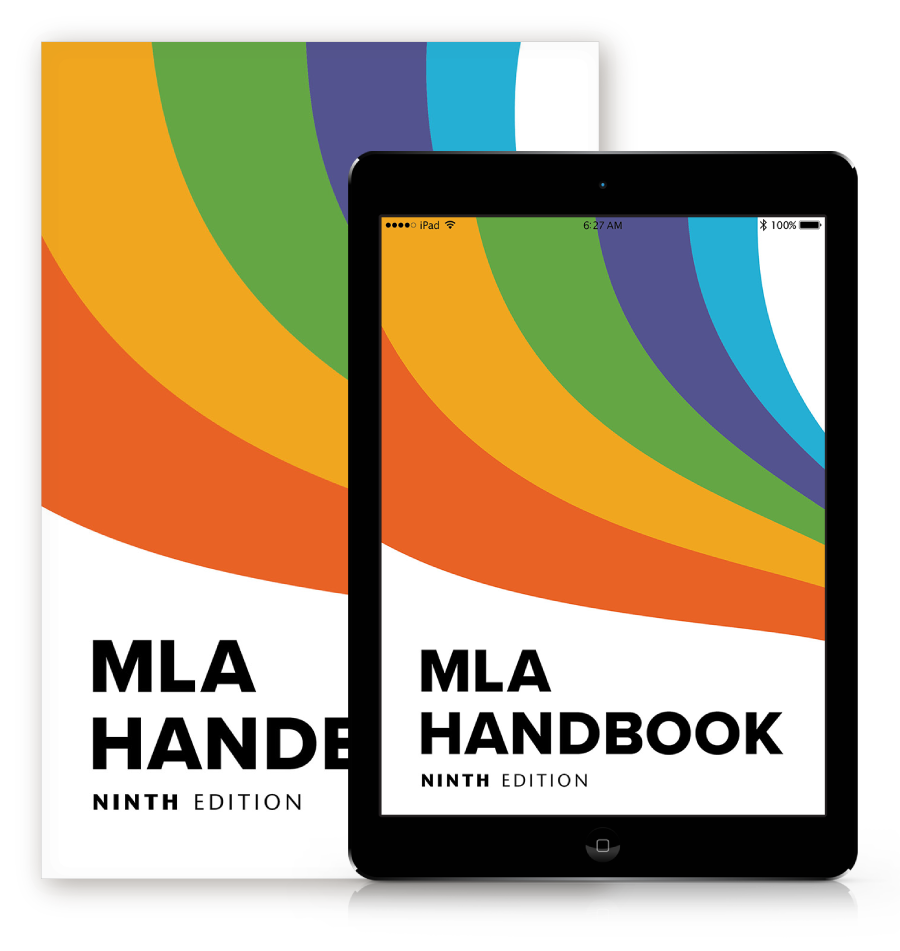 Image of the MLA Handbook 9th edition.
