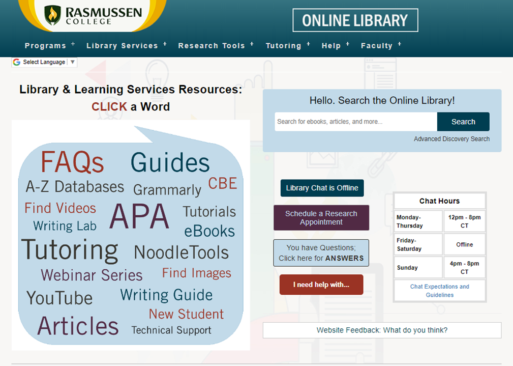 Rasmussen University LLS Homepage