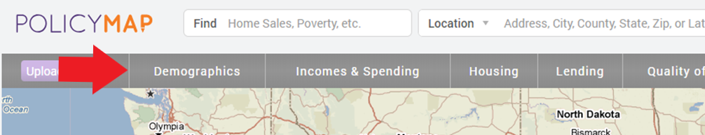 PolicyMap Banner on Homepage