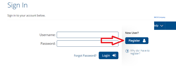 Register button in Learning Express