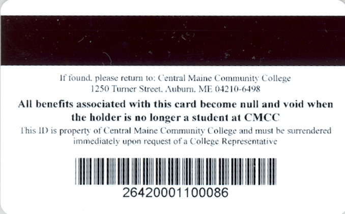 Back of CMCC ID Card