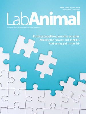 Lab Animal Journal Cover April 2019