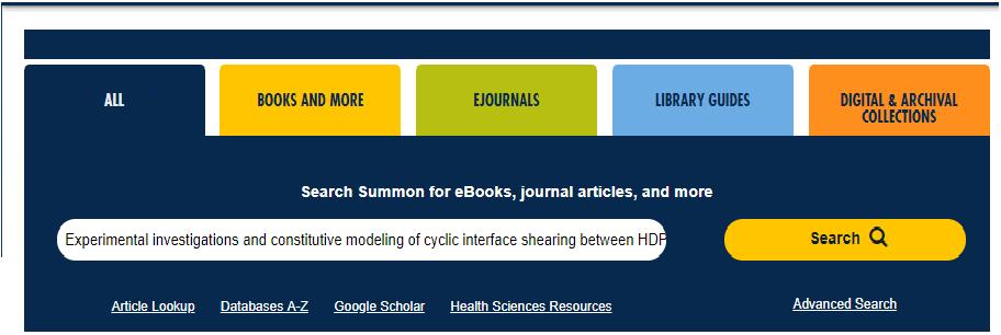 Libraries Homepage