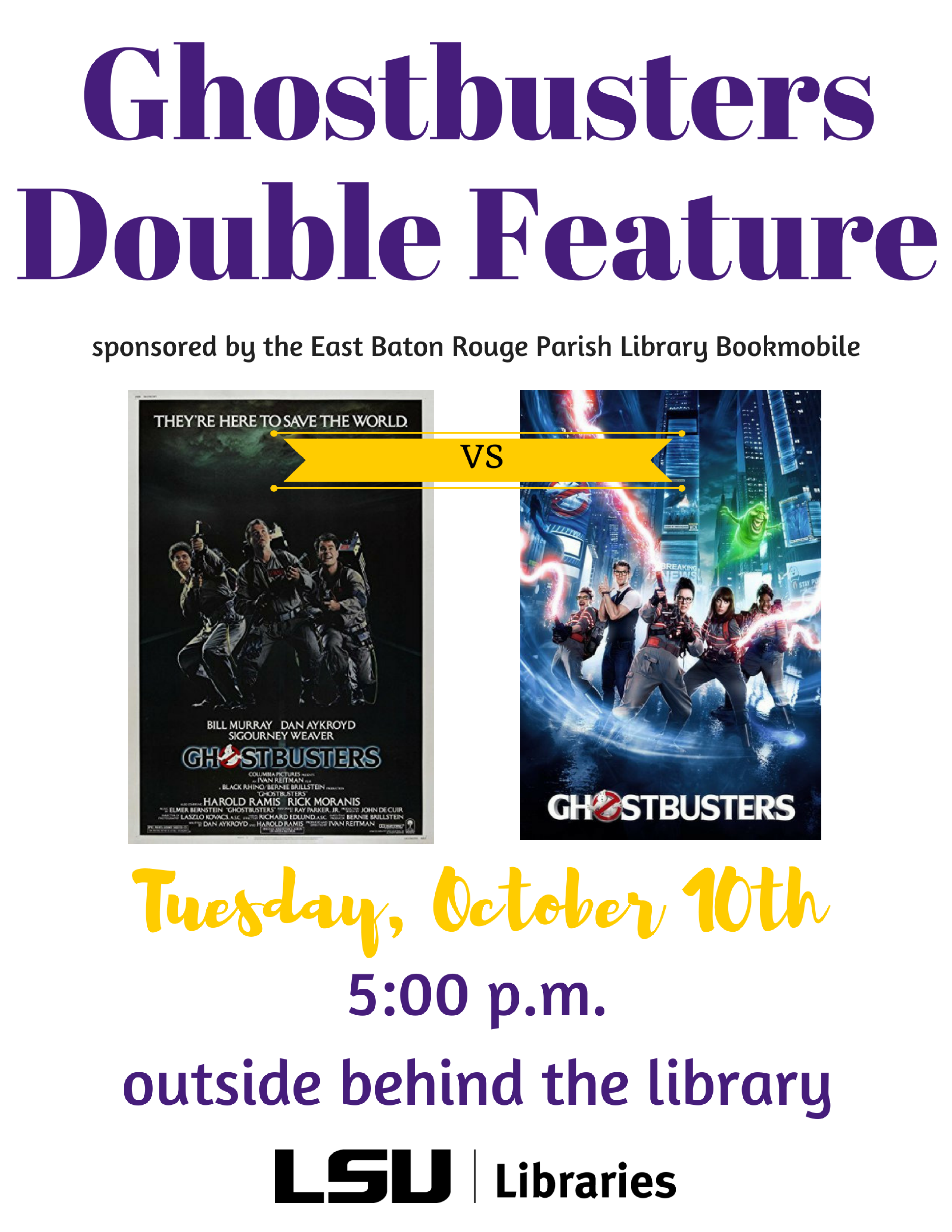 Ghost Busters Double Feature