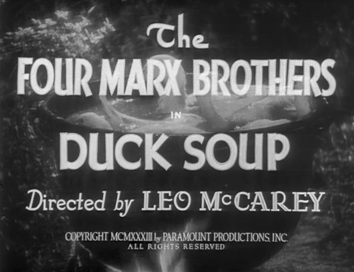 Duck Soup title card