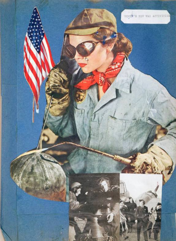 Scrapbook made during WWII.