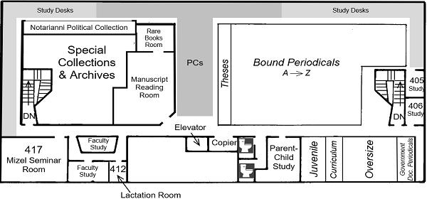 DML 4th Floor floorplan