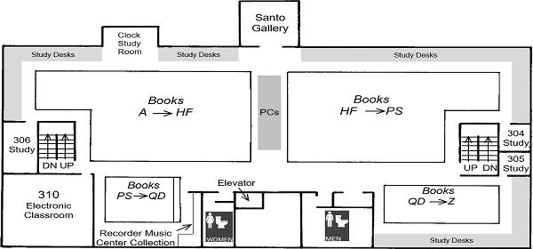 DML 3rd floor plan