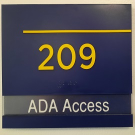 ADA accessible study room placard